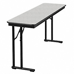 Seminar Table, Gray Glace, 18 In x 5 ft.