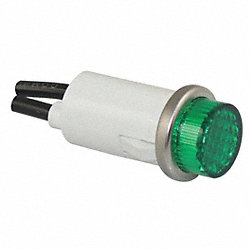 Raised Indicator Light, Green, 250V