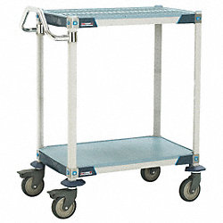 Utility Cart, Microban, 41x24x39, 2 Shelf