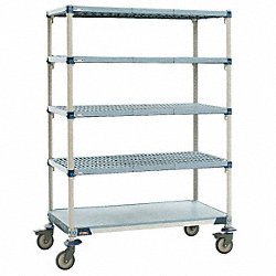 Utility Cart, Microban, 48x18x80, 5 Shelf