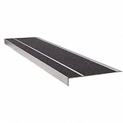 Stair Tread, Black, Extruded Alum, 4 ft. W