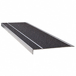 Stair Tread, Blk, Extruded Alum, 3 ft. W