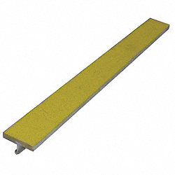 Safety Stair Strip, Yellow, Extruded Alum