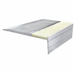 Stair Tread, PL, Extruded Alum, 4 ft. W