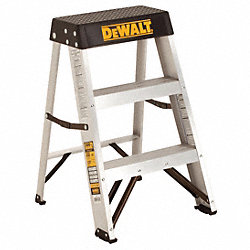 Step Stool, 26-5/8 In H, 300 lb., Aluminum