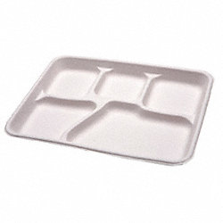 Cafeteria Tray, Natural, 5 Comp, PK 500