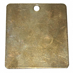 Blank Tag Square 2 In Brass, PK25