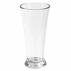 Pilsner Beer Glass, Clear, 9 oz., PK 12