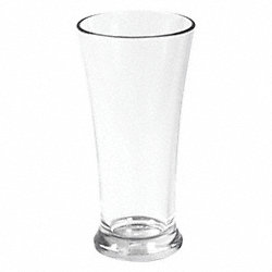 Pilsner Beer Glass, Clear, 14 oz., PK 12