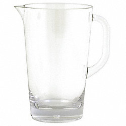 Pitcher, Clear, 2 Qt., PK 3