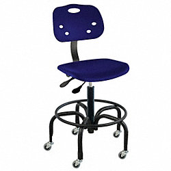 Chair, Heavy-Duty, Polypropylene, Blue