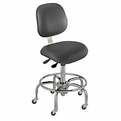 Ergo Chair, Class 1000 Clean, Vinyl, Black