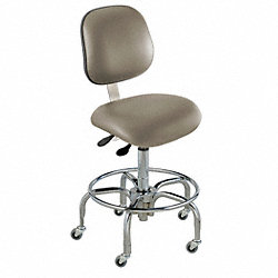 Ergo Chair, Class 100 Clean, Vinyl, Gray