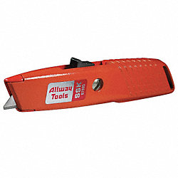 Utility Knife, Retracting, 5-7/8 In, Orange
