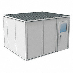 Modular InPlant Office, 3Wall, 10x12, Steel