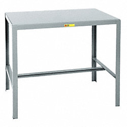 Machine Table, Welded Steel, 42Hx36Wx24D