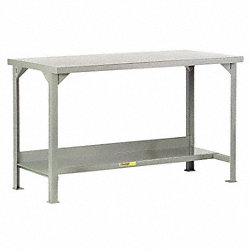 Workbench, Welded, Lower Shelf, 36Hx48Wx24D