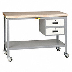 Mobile Workbench, Shelf/Drwrs, 35Hx36Wx24D