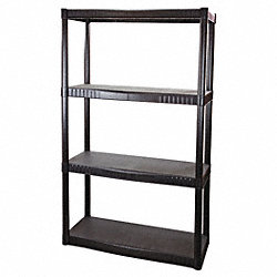 Shelving, Solid, 55-1/4x33-1/2x14, 4 Shelf