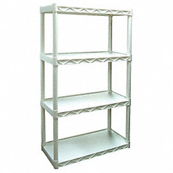 Shelving, Solid, 56-1/2x34x14, 4 Shelf