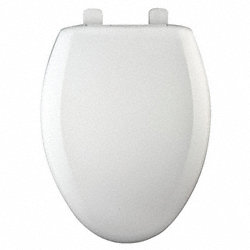 Toilet Seat, Elongated, 18-5/8 In, White