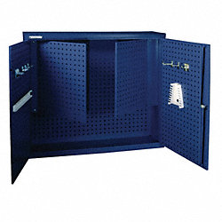 Wall-Hung Cabinet, w/Panels, 45x12x39, Blue