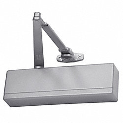 Door Closer, Hold Open, Aluminum, 13 In.