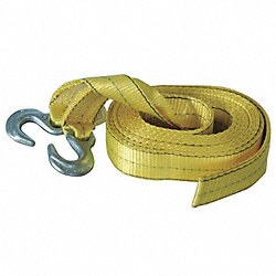 Reflective Tow Strap, 2 Inx30 ft., Yellow