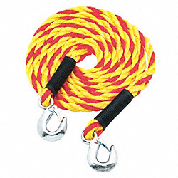 Tow Rope, 5/8 In x 15 Ft., Yellow/Orange