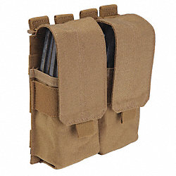 Mag Pouch w/Cover, Dbl, Earth, Nylon, 7x6 In