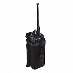 Radio Pouch, Black, Nylon, 5-3/8 x 3-5/8 In