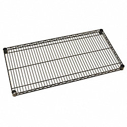 Wire Shelf, 21x24 in., Black Matte, PK4