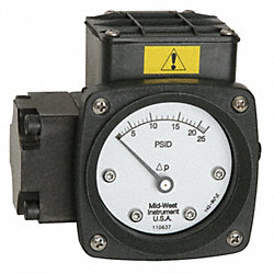 NEMA 4X DP Switch, 3000 PSI, 0 to 100 H2O