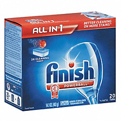 Dishwashing Detergent, 20 Tabs, Fresh, PK8