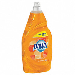 Liquid Dishwashing, 38 oz., Orange, PK8