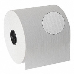 Roll Towel, White, 7 In., Pk 6