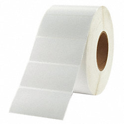 Label, White, Polyolefin, PK4