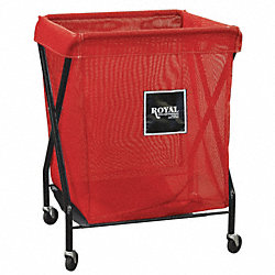 X-Frame Cart, 6 Bu, Red Mesh