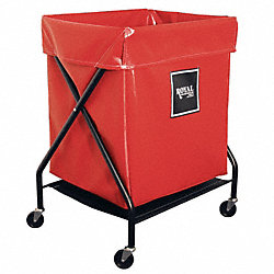 X-Frame Cart, 6 Bu, Red Vinyl