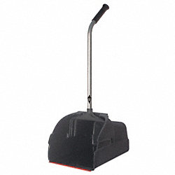 Long Hndld Dust Pan, Plstc, 13-3/4 W, Black