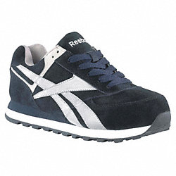Athletic Shoes, Steel Toe, Navy, 10, PR