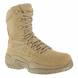 Military Boots, Safety Toe, 8In, 10-1/2W, PR