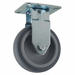 Rigid Plate Caster, 165 lb, 3 In Dia