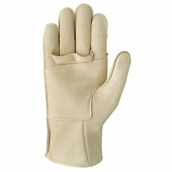 Leather Gloves, Rope Handling, Tan, Sz 3, Pr
