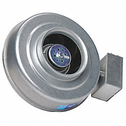 Centrifugal Inline Duct Fan, 6 In