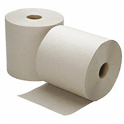 Roll Towel, 800 Ft, Brown, Pk 6