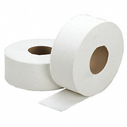 Toilet Paper, Jumbo, 1-Ply, 2000 Ft, Pk 12
