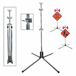 Sign Stand, Aluminum, 75 In.