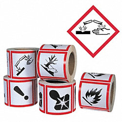 Pictogram Label, Black/Red, Glossy Paper