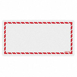 Workplace Laser Label, Red, Paper, 4 In. L